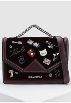 d631a469ee80 KARL LAGERFELD red Klassik Pins Shoulder Bag CF4B5ACA9C9B65GS 1