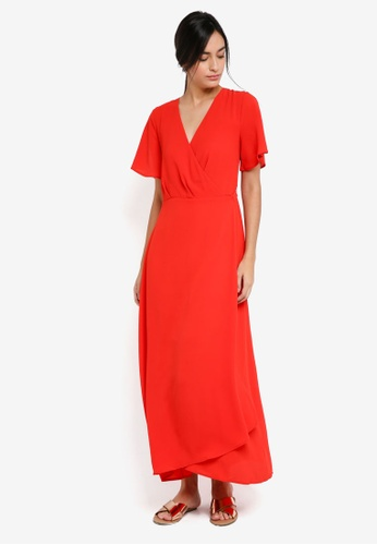 ICHI red Zarun Dress DD085AA6E62FE9GS_1