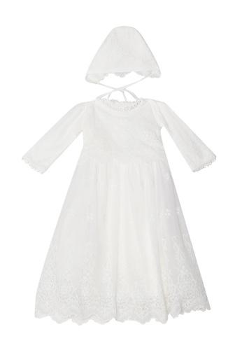 RAISING LITTLE white Pearl Lace Dress 7C1A8KA0372A0DGS_1