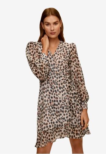 Mango beige Crossed Design Dress 487FCAA19ECC15GS_1