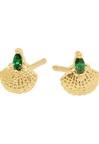Dear Addison gold Emerald Sea Earrings AE96AAC6C28350GS_1