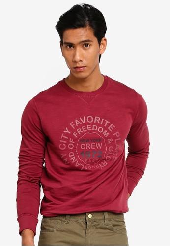 OVS 紅色 My Favorite Place Sweatshirt AEC1DAA3D0AC55GS_1