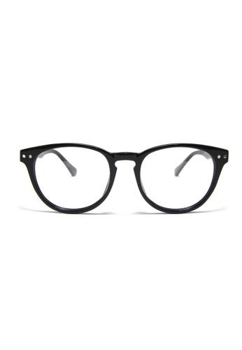 復古梨形鏡框│黑色眼鏡│P1053-esprit 會員C1, 飾品配件, 眼鏡