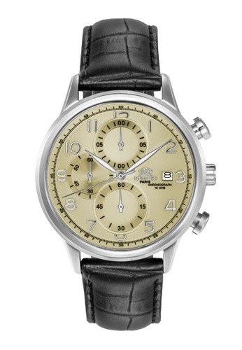 Roscani silver Roscani Katherine S 963S (Chronograph + WR 10ATM) Stainless Steel Yellow Leather Men Watch 1B6F1ACBB01F87GS_1