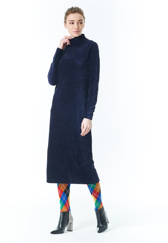 United Colors of Benetton navy Turtleneck Dress 2809AAAD72576FGS_1
