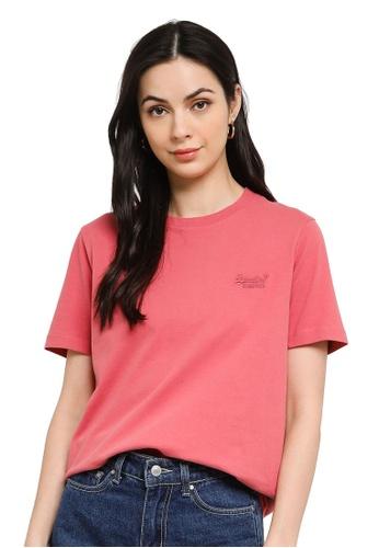 Superdry pink Orange Label Classic Tee 180 - Original & Vintage FACA5AAA139392GS_1