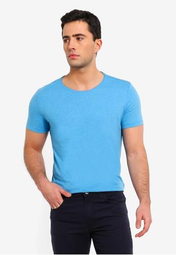 OVS blue Round Neck Short Sleeve T-Shirt BA157AAF76AE86GS_1