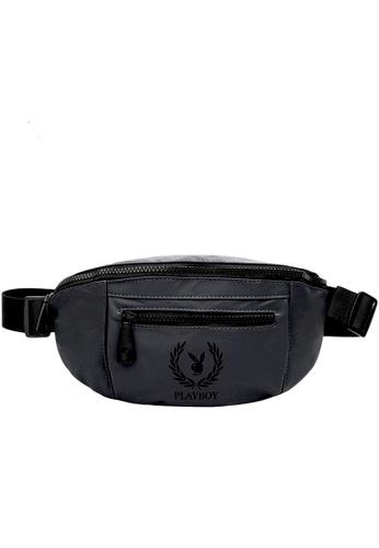 Playboy grey Unisex Waist Bag 7D113AC1DAA279GS_1