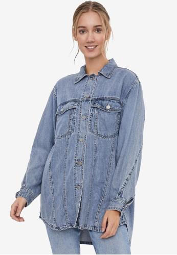 Vero Moda blue Oversized Denim Shirt A9EABAABDFA817GS_1