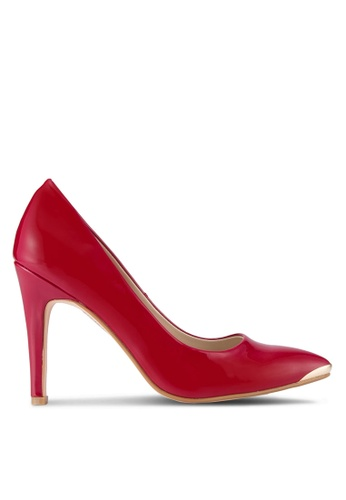 ZALORA red Patent PU Pumps with Metal Toe Cap 76390SH1CAB93BGS_1