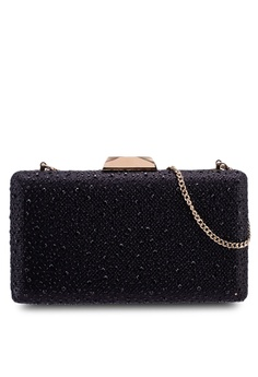 2ce46efd3ed2 Forever New black Kylie Glamour Clutch 9CCEAACF5A76A2GS 1