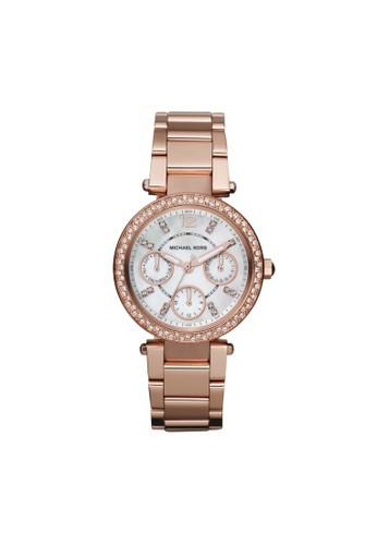 Mini Parkerzalora開箱鑽飾計時腕錶 MK5616, 錶類, 時尚型