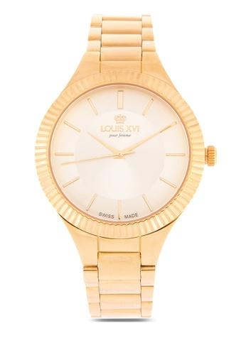 timeless design a2f89 bfa53 Louis XVI gold La Reine Women s Chronograph Swiss Made Watch  69659AC5CCC489GS 1