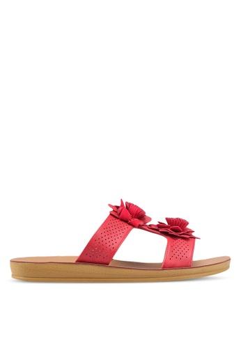 NOVENI red Floral Sandals 5E017SH3F0DDEDGS_1