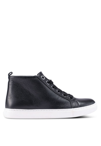 Kenneth Cole black Leather Sneakers EF302SH8044BB5GS_1