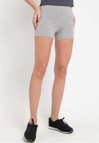 Opelon grey Opelon Celana Olahraga Wanita - Mini Short Heather Gray C062BAAEC7B06FGS_1