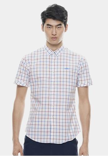 Private Stitch white Classic Checker Shirt with Contrast Mustache Logo PR777AA99IOIMY_1