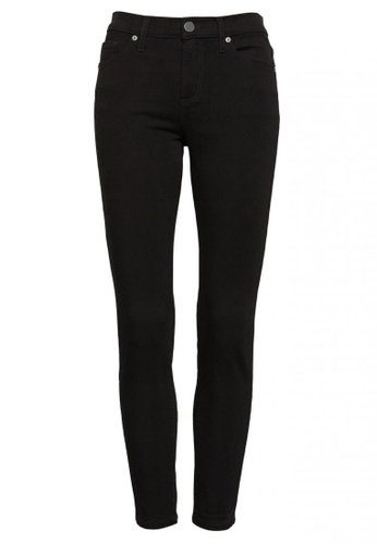Banana Republic black Mid-Rise Skinny Fade-Resistant Ankle Jeans D88ACAA778AD89GS_1