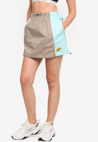Nike green Women's Sportswear Icon Clash Woven Skirt FCF9FAA243C990GS_1