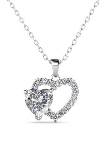 Her Jewellery silver Dear Love Pendant -  Made with premium grade crystals from Austria HE210AC0GRCFSG_1