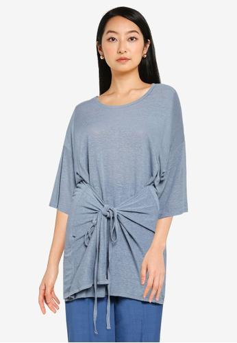 JEANASIS blue Hanky Hem Oversized T-Shirt 68EA0AAEBDAD03GS_1