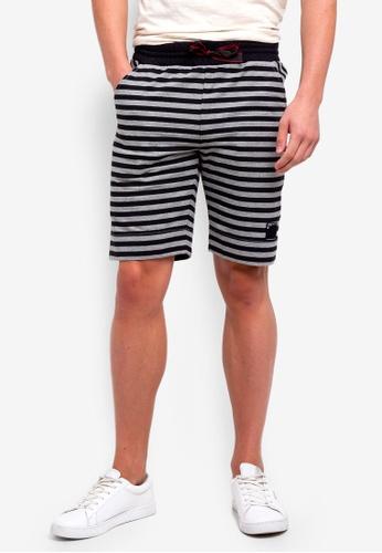 UniqTee 黑色 Cotton Shorts With Drawstring 4A22BAA1CE608DGS_1