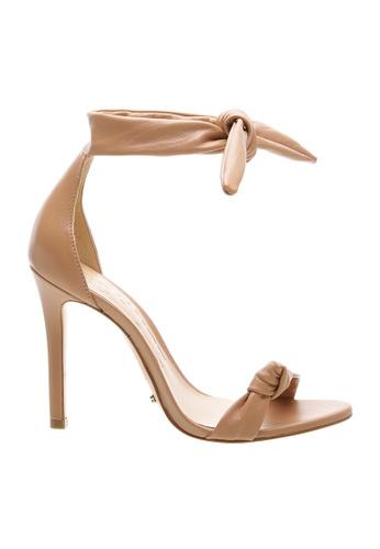SCHUTZ beige SCHUTZ Strap Sandal - EVELYN (TOASTED NUT) 5E7A6SHC4DAA99GS_1