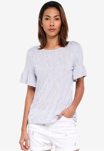ESPRIT blue Short Sleeve T-Shirt BDBE1AA367225CGS_1