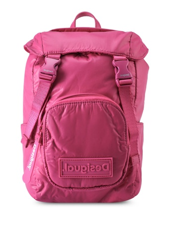 Desigual pink Small Padded Backpack FC391AC9327BB8GS_1