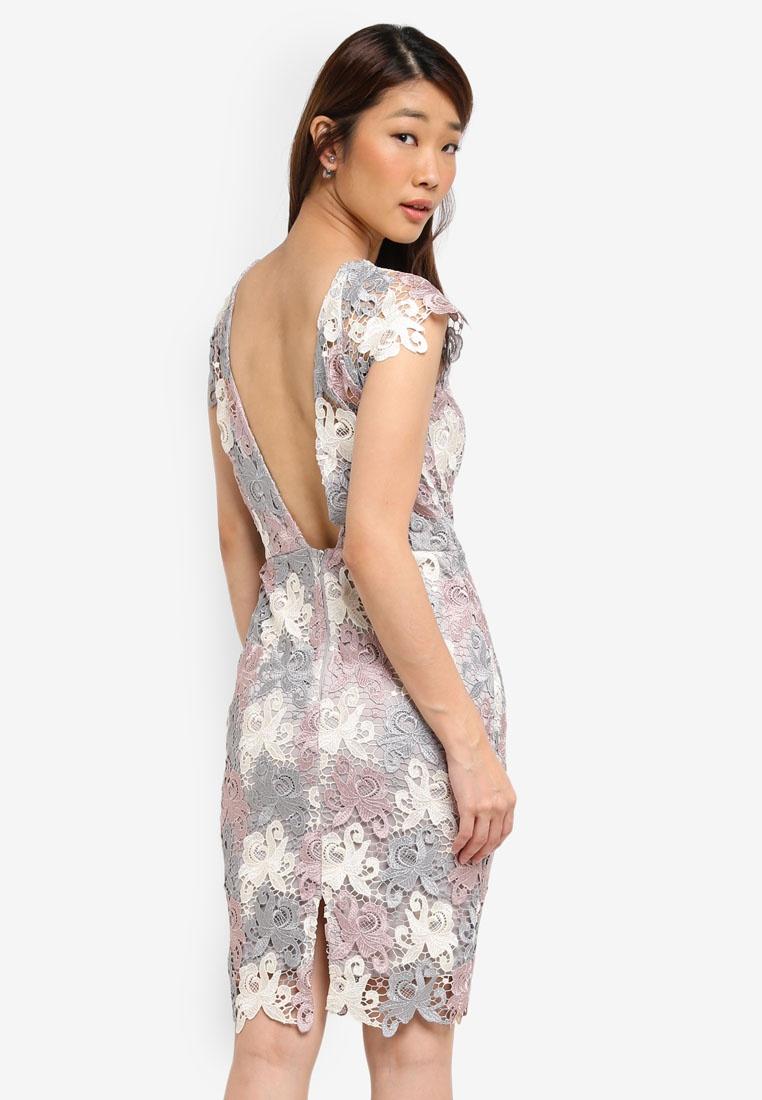 Crochet Lace Grey Dress Dolls 3 Cream Dusky Contrast Soft Colour Rose Paper HPIt7