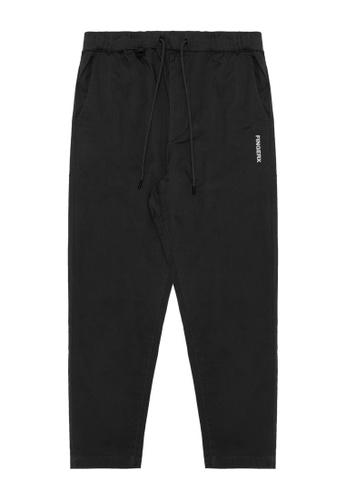 Fingercroxx black Drawstring pants F1A90AAA4FF6A9GS_1