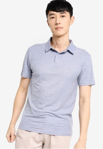 ZALORA BASICS blue Soft Pique Polo Shirt F3E45AAA1F1A80GS_1