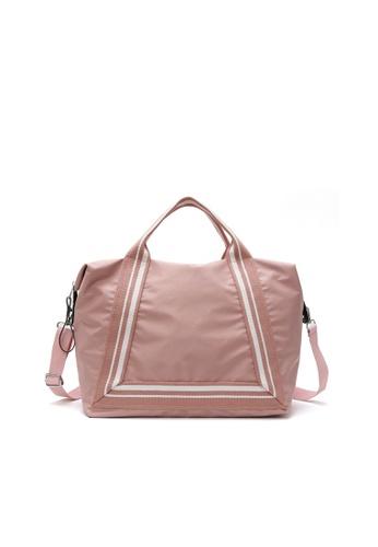 VIVIESTA SPORT pink Large Lightweight Foldable Travel Tote Bag C5B10AC5970F5DGS_1