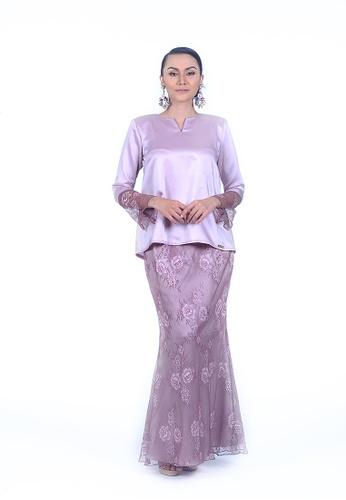 Kurung Kedah Lace from Rumah Kebaya Bangsar in Pink and Purple