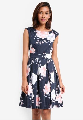 CLOSET navy Tie Back Dress 6011CAA2537654GS_1