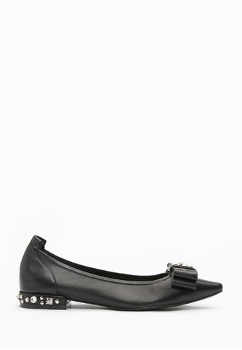 PAZZION black Pointy Pumps 2A13ASHE764EA8GS_1