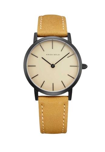 Aries Gold beige Aries Gold Urban Santos L 1023 Black and Beige Watch 6E438AC49A1F95GS_1