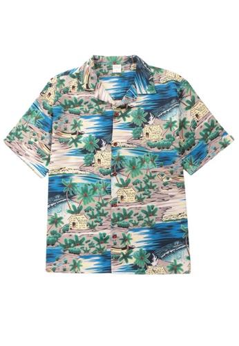 Twenty Eight Shoes Island Scenery Printed Aloha Shirt MD206029 C38ADAA725562AGS_1