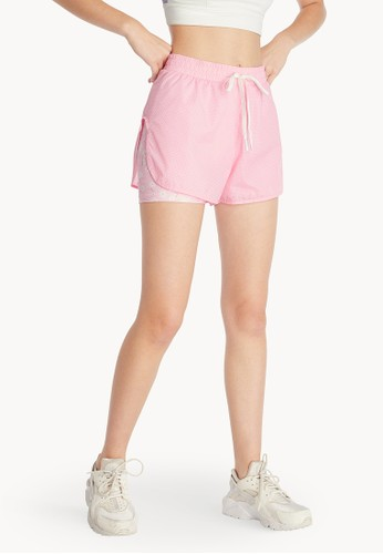 Pomelo pink Floral Running Shorts - Pink 20CF3AAB51F37BGS_1