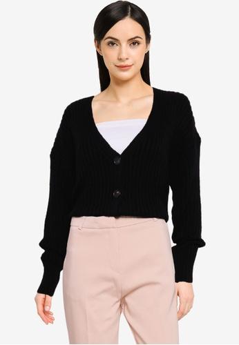 KOTON black Knit Cardigan EF7B7AAD2D440CGS_1