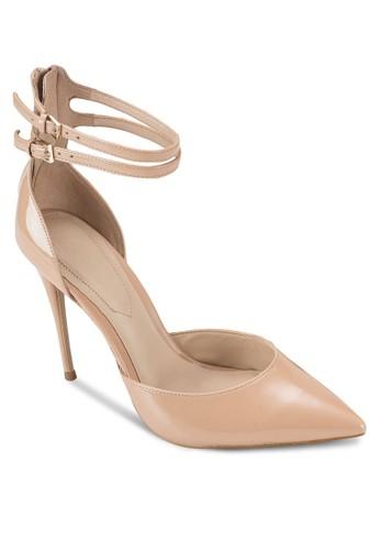 Marylee 雙扣環踝帶側空高esprit 工作跟鞋, 女鞋, 鞋