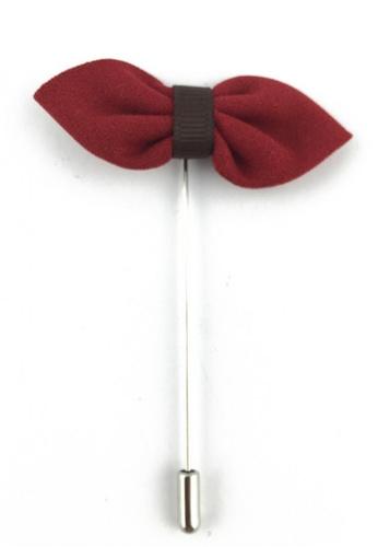 Splice Cufflinks silver Red Fabric Bow Lapel Pin SP744AC86FIZSG_1