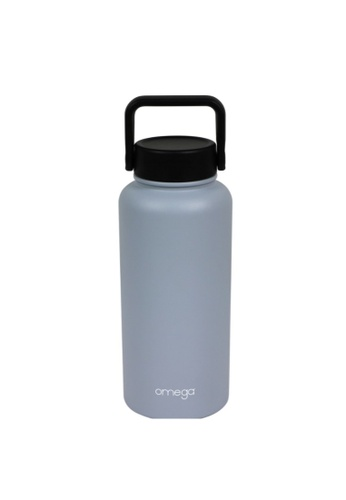 Omega Houseware grey Denzell Double Wall Insulater Stainless Steel Bottle Tumbler 950ml 86CC2AC1DB56B0GS_1
