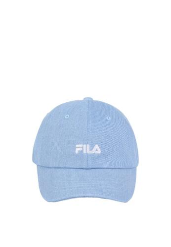 FILA blue Korea Collection Unisex Embroidery FILA Logo Cap 69806AC139E4D8GS_1