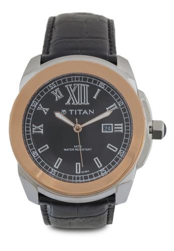 羅馬數字不銹鋼皮革錶, 錶類,esprit台灣 皮革錶帶