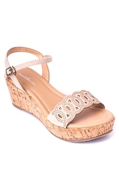 Daisy Wedge Sandals