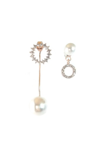 La Miina gold Asymmetric Jean Earrings C5015ACDEB712BGS_1