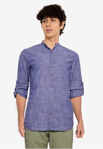 LC WAIKIKI blue Extra Slim Fit Poplin Shirt 80DA0AAF959D48GS_1