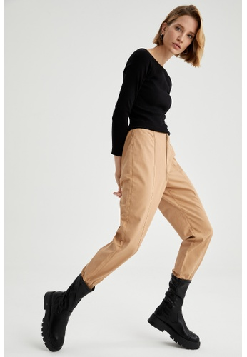DeFacto brown Woman Woven Trouser 82242AABADDB2BGS_1