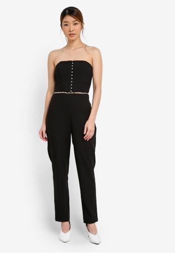 Miss Selfridge black Pearl Insert Jumpsuit MI665AA0SHV4MY_1